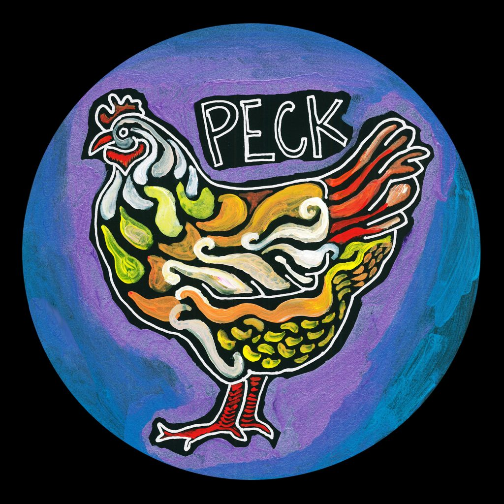 life circle : chicken peck