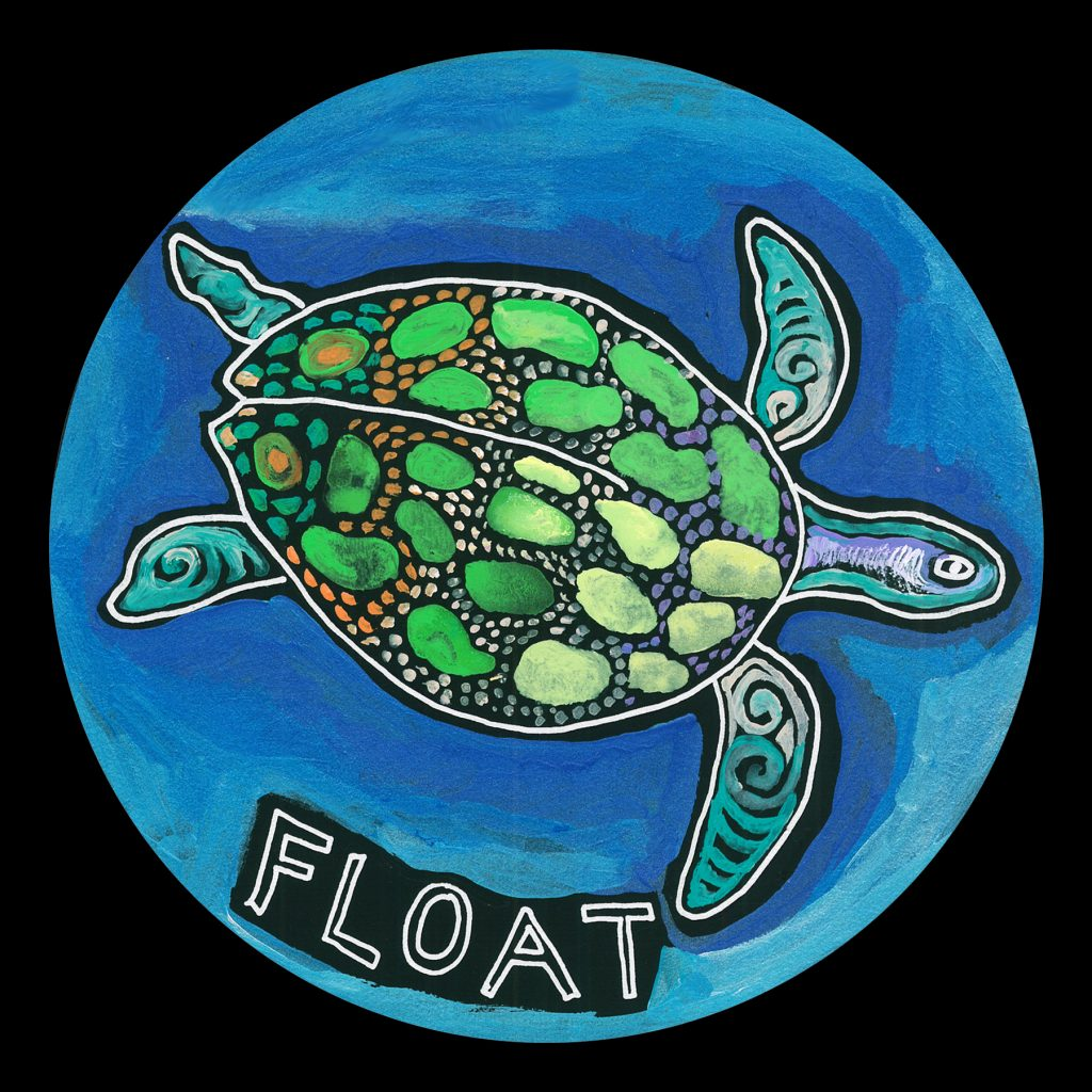 life circle : sea turtle float