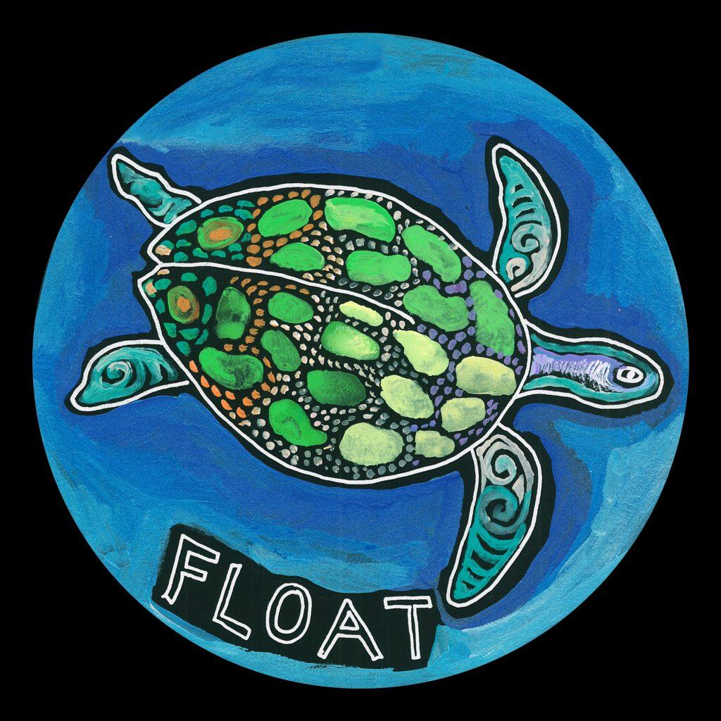 life circle : sea turtle float