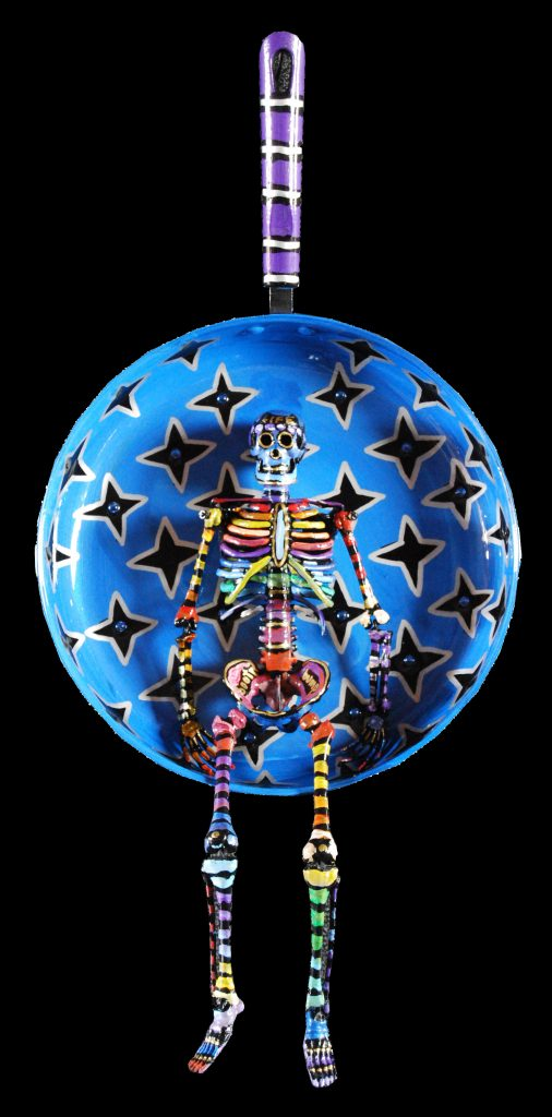 skelly skillet : blue stars