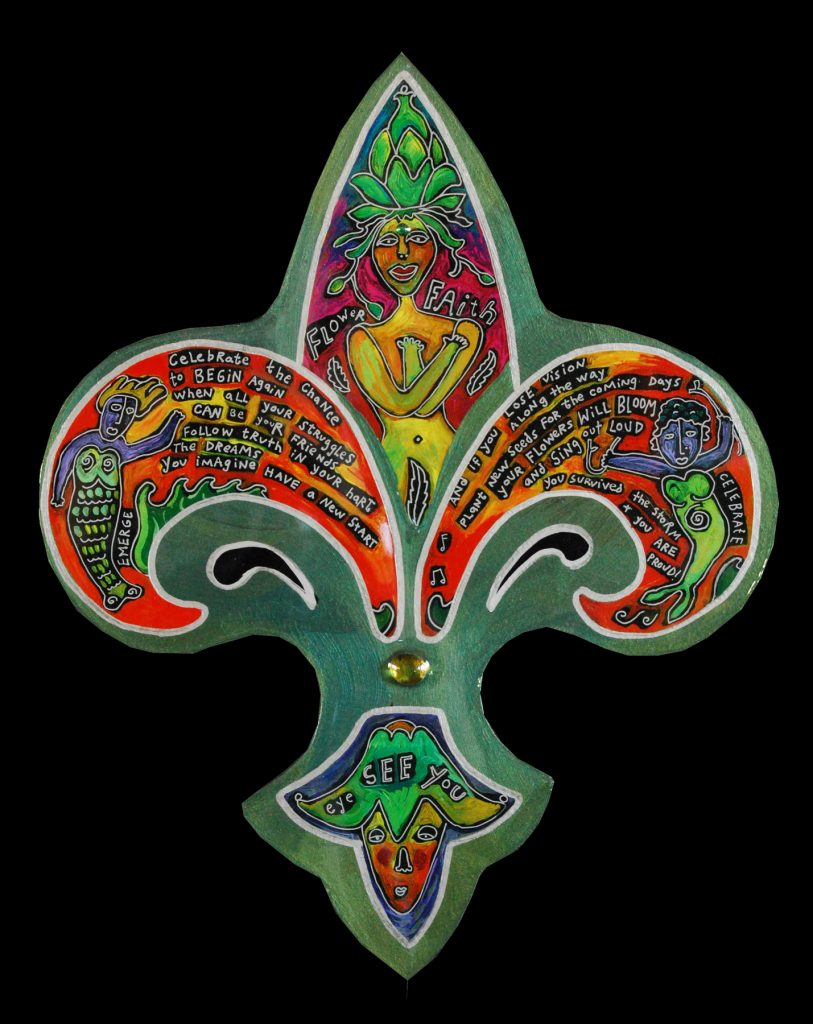 fleur de lis - mini : flower faith - en