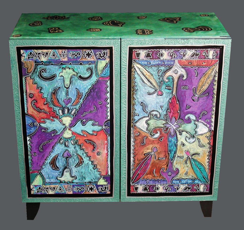 cabinet double : mandala