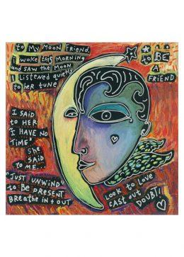 card : moon friend