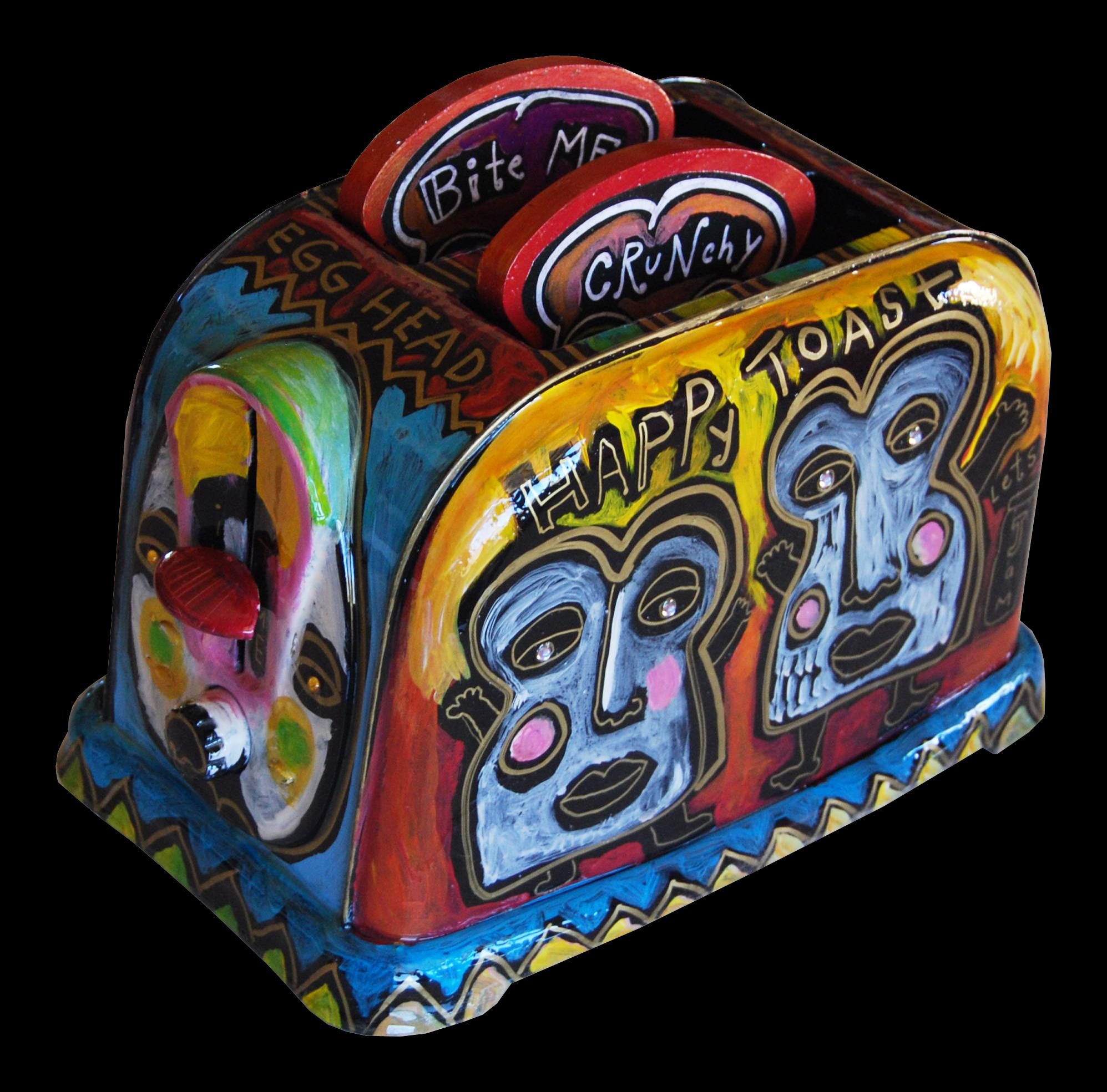 toaster : happy