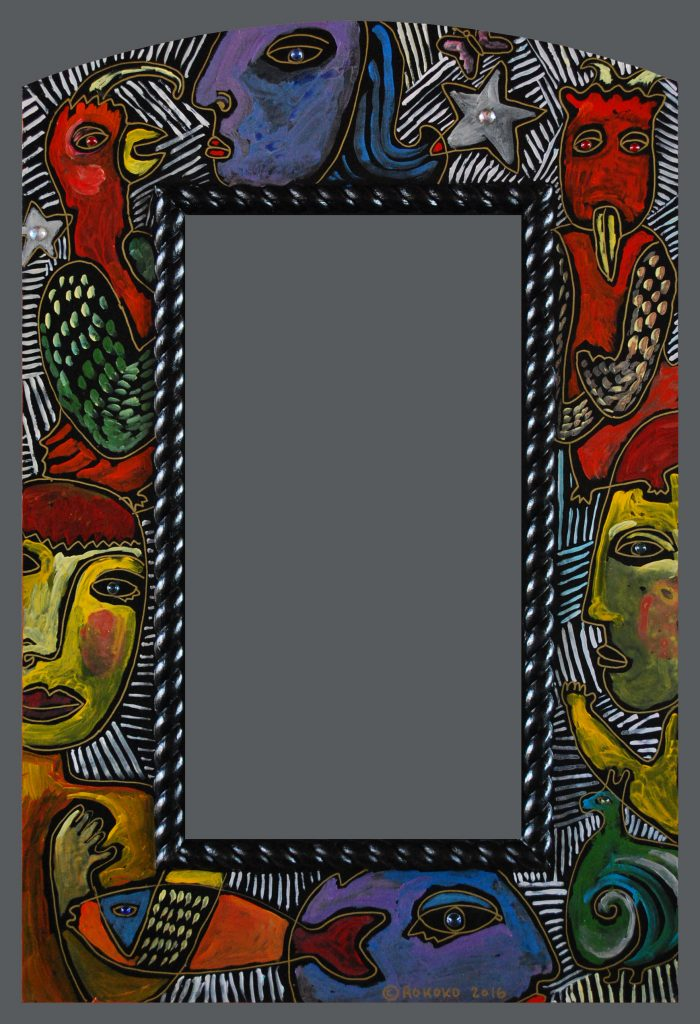 mirror large wide figure jewel
