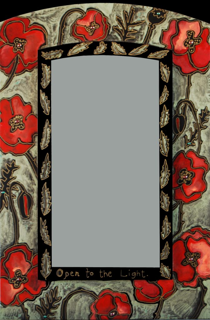 """Poppy"" mirror : red"
