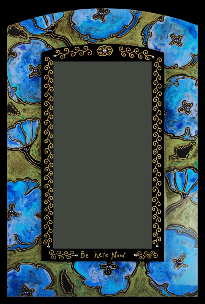"NEW ""Poppy"" mirror : blue"