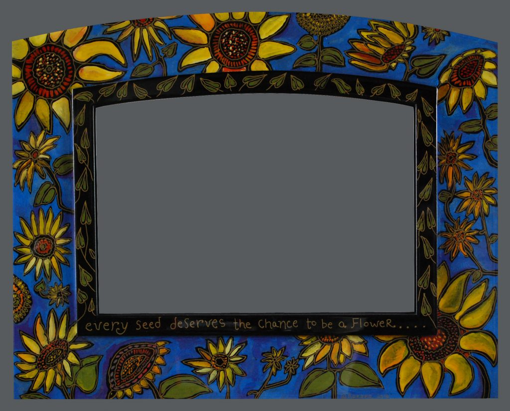 """Sunflower"" mirror"
