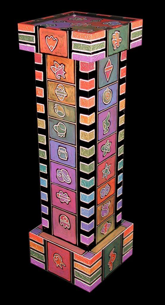pedestal : rainbow