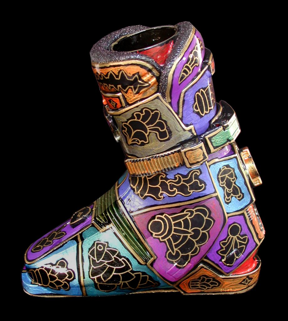 ski boot vase 1