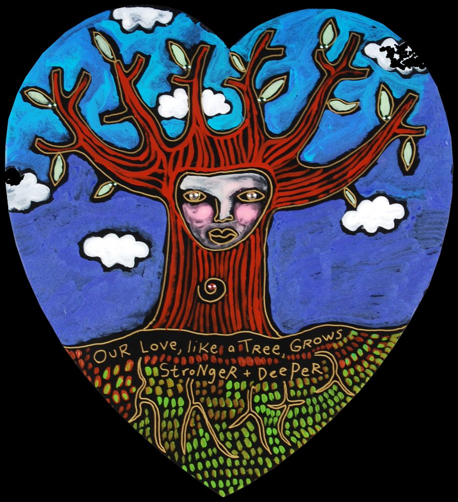 NEW medium heart : like a tree