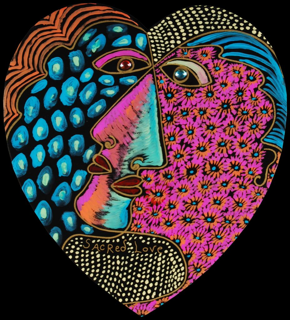 NEW medium heart : heart sacred love